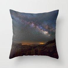 Fairyland Canyon Starry Night Photography Throw Pillow