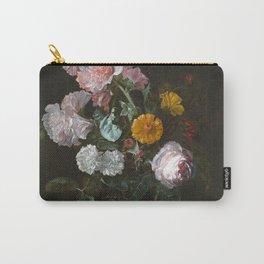 Vanitas Flower Still Life by Willem van Aelst Carry-All Pouch