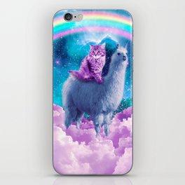 Rainbow Llama - Cat Llama iPhone Skin