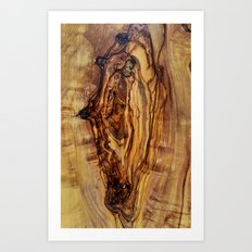 olive tree wood Art Print