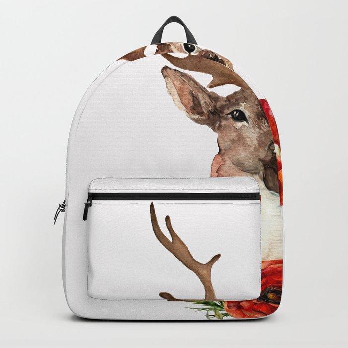 Deer with flowers 2 Backpack