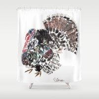 turkey Shower Curtains featuring Turkey by Elena Sandovici