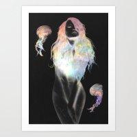 medusa Art Prints featuring Medusa by Daniel Taylor