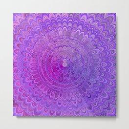 Mandala Flower in Violet Tones Metal Print
