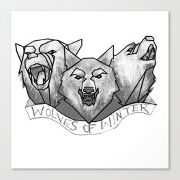 Wolves of Winter Canvas Print
