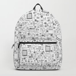 All Tech Line / Highly detailed computer circuit board pattern Backpack