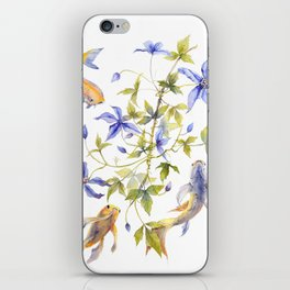 Clematis and Koi Fish Water Magic iPhone Skin