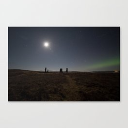 Callanish IV aurora Canvas Print