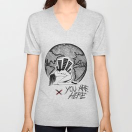 You Are (-_not-) Here Unisex V-Neck
