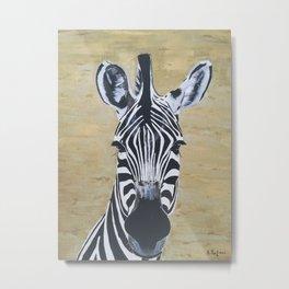Zebra paintig, Animal wall art, African animals Metal Print