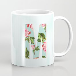 Floral Letter M - Letter Collection Coffee Mug