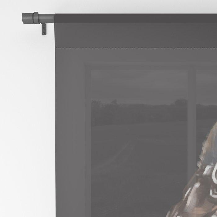 Cool Pilot Llama in Black Sheer Curtain