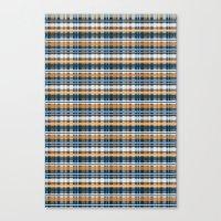 plaid Canvas Prints featuring Plaid by Livia Rett
