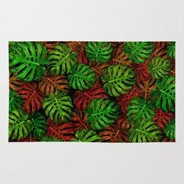 Monstera Leaf Pattern Rug