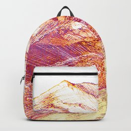 Mountains landscape drawing Backpack