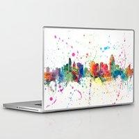 cincinnati Laptop & iPad Skins featuring Cincinnati Ohio Skyline by artPause