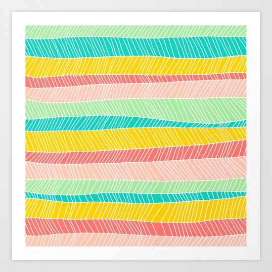 Beach Stripe (Vintage Candy) Art Print