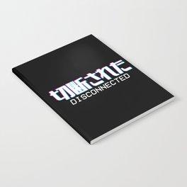 Disconnected - Vaporwave Japanese Text Gamer Gift Notebook
