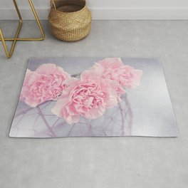 Pale Pink Carnations Rug