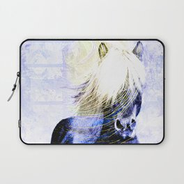447 Abstract Periwinkle Horse Laptop Sleeve