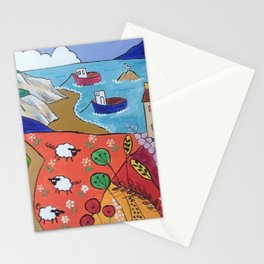 Colorful Naive Seascape Stationery Cards
