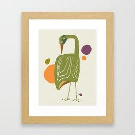 Quirky Brolga Framed Art Print