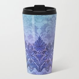 ABERDEEN HEIRLOOM, LACE & DAMASK: FRENCH BLUE Travel Mug