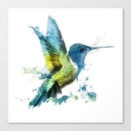 Watercolor Hummingbirds Nursery Humming Bird Canvas Print