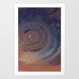 eye in the sky, eye in the desert | space #01 Art Print