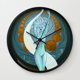 The Isle Full of Noises - Shakespeare Art Nouveau Wall Clock
