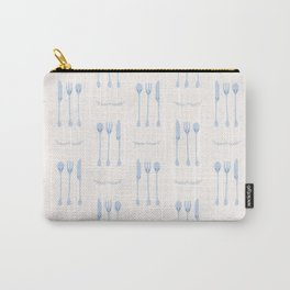 Cute set of spoon, knife and fork illustration Carry-All Pouch
