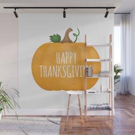 Happy Thanksgiving | Pumpkin Wall Mural