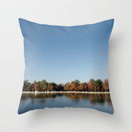 Autumn in Retiro Throw Pillow