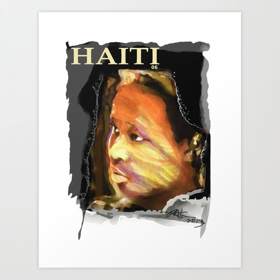 Haiti Portraits / 06 / Series / 4 Art Print