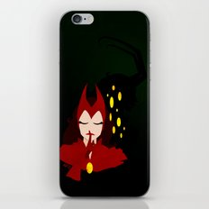 Mischief from Shadows (Lady Loki as Scarlet Witch) iPhone & iPod Skin