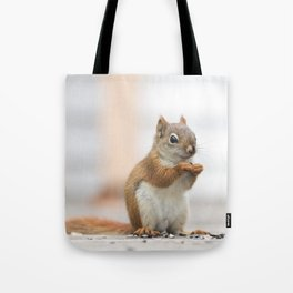 Red Squirrel 3 Tote Bag