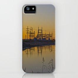 Powerline Sunset iPhone Case