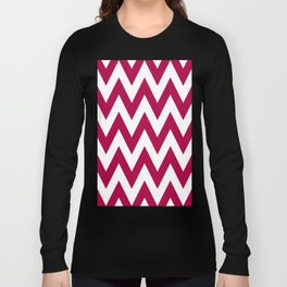 Team Spirit Chevron Red and White Long Sleeve T-shirt