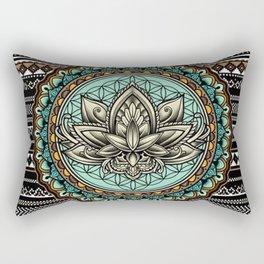 Lotus Mandala Pattern - Rectangular Pillow