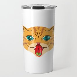 Kiss Me Ginger Cat Travel Mug