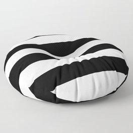 Black White Stripe Minimalist Floor Pillow