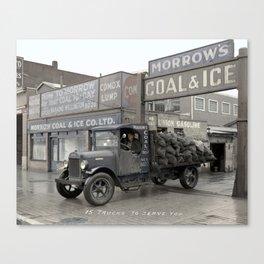 Morrow's Coal and Ice Company at 1025 Main Street, Vancouver - 1931 Canvas Print