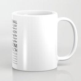 First Amendment Fundamental Freedoms Coffee Mug