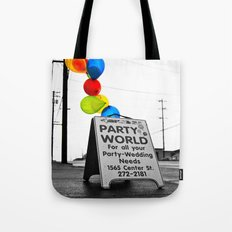Rainy day party Tote Bag