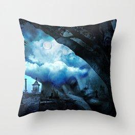 She Sleeps By Annie Zeno Throw Pillow