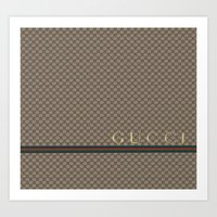 gucci Art Prints featuring Gucci Class by Goldflakes