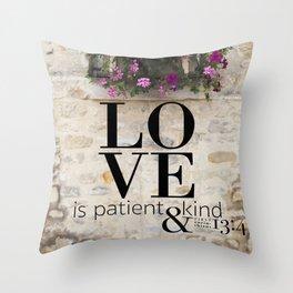 True Love  //  I Corinthians 13:4 Throw Pillow