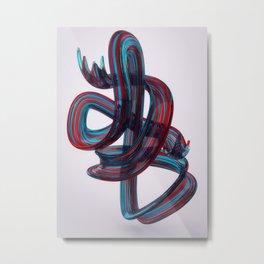 Glass Brush Stroke Metal Print