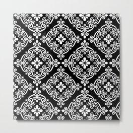 Monochromic Tile Metal Print
