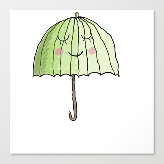 cute UMBRELLA Canvas Print